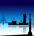 Belgrade skyline vector image
