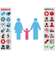 Parents And Child Icon vector image