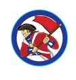 american soldier vector image