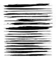 abstract black long textured strokes paint set