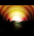 abstract dark background of sunset vector image vector image