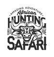 amazing african adventure safari buffalo hunting vector image