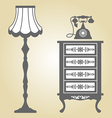 Antique Furniture vector image