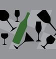 background bottle vector image