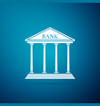 bank building icon isolated on blue background vector image vector image