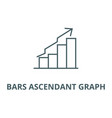 bars ascendant graph line icon bars vector image vector image