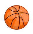 basketball ball isolated vector image vector image