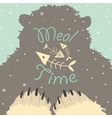 Bear meal time vector image vector image