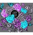 beautiful flower background art vector image vector image
