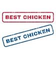 Best Chicken Rubber Stamps vector image vector image