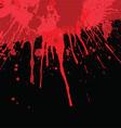 Blood splatter background vector image vector image
