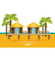 bungalow flat vector image vector image