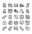 business and office line icons 14 vector image vector image