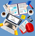 business office and workspace background vector image vector image