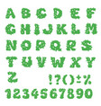cactus alphabet set letters and vector image