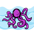 cartoon of cute octopus vector image