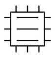 central processor unit line icon cpu pictogram vector image
