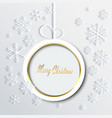 christmas ball made of paper and snowflakes vector image