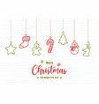 christmas new year holiday ornament doodle card vector image vector image