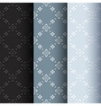 Collection of 3 vintage seamless classic pattern vector image vector image