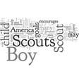 common boy scouts america goals vector image vector image