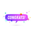 congrats speech bubble vector image