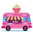 cupcake Van vector image vector image