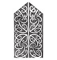 eaves board detail of wood carving on painted vector image vector image
