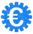euro cog icon grunge watermark vector image vector image