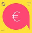 euro symbol icon vector image vector image