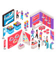 expo stand constructor set vector image vector image