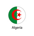 flag of algeria in the form of a circle vector image