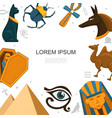 flat egypt elements template vector image vector image