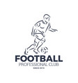 football professional club since 2010 badge vector image vector image