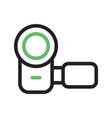 hand camera i vector image