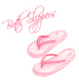 hand drawn of isolated bath slippers vector image vector image