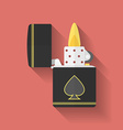 icon of Zippo lighter Flat style vector image