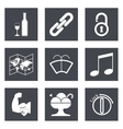 Icons for Web Design set 48 vector image vector image
