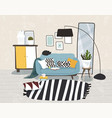 interior apartment is decorated vector image vector image
