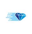 jewelry delivery logo icon design vector image vector image