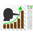 lier hyip chart flat icon with bonus vector image vector image