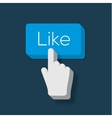 Like us Button with Hand Shaped Cursor vector image vector image