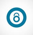 lock bold blue border circle icon vector image