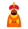 magic king epiphany icon flat style vector image vector image