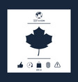 maple leaf icon vector image vector image