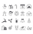 merry christmas icon collection vector image vector image