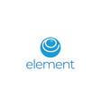 modern simple blue letter e for element molecule vector image