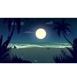 moonlight night at beach vector image vector image