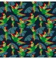 parrots in jungle seamless tropical vector image