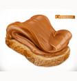 peanut butter on bread caramel spread 3d vector image